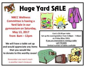 NBCC Yard Sale