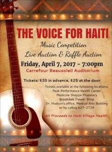 Voice for Haiti 2017