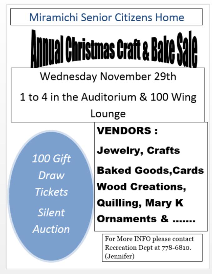 MSCH Christmas Craft and Bake Sale 2017